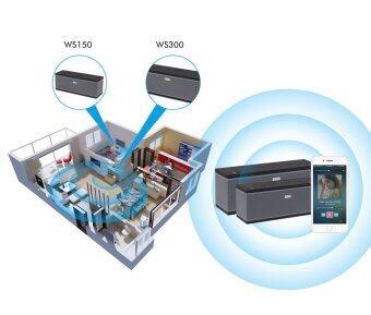 August WS300 - Multiroom WiFi Bluetooth Speakers (Black) - 2