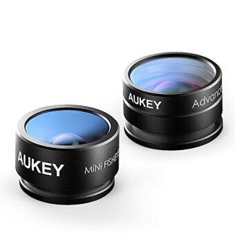 Harga Aukey Professional 2 In 1 Mini Clip-On Phone Camera 160? FOVFisheye and 10X Macro Lens