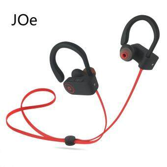 Bluetooth 4.1 Sport Earphone Handfree Wireless Bluetooth HeadsetEarphones with Mic Sports Ear-hook Bluetooth Earphone(Red)