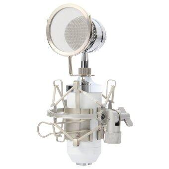 Harga BM - 8000 Professional Sound Studio Recording Condenser Microphonewith 3.5mm Plug Stand Holder