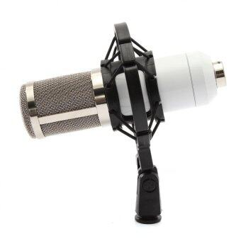 Harga BM800 Condenser Microphone Recording With Shock Mount Kit (White)