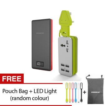 (Bundle) Pineng Powerbank PN969 20,000mAh + Pineng PN333 UKExtension Socket With 4 USB Ports