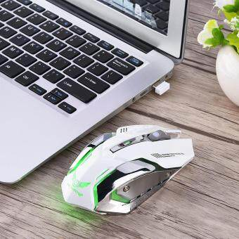 [Buy 1 Get 1 Free Gift] 2.4G Wireless Rechargeable Gaming Optical Mouse For PC Computer White Malaysia