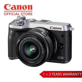 Canon Compact EOS M6 Camera - Silver,EF-M 15-45 (1+2 Years Warranty)