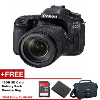 Canon EOS 80D DSLR Camera with EF-S 18-55mm f/3.5-5.6 IS STM Lens (Canon Malaysia Warranty)