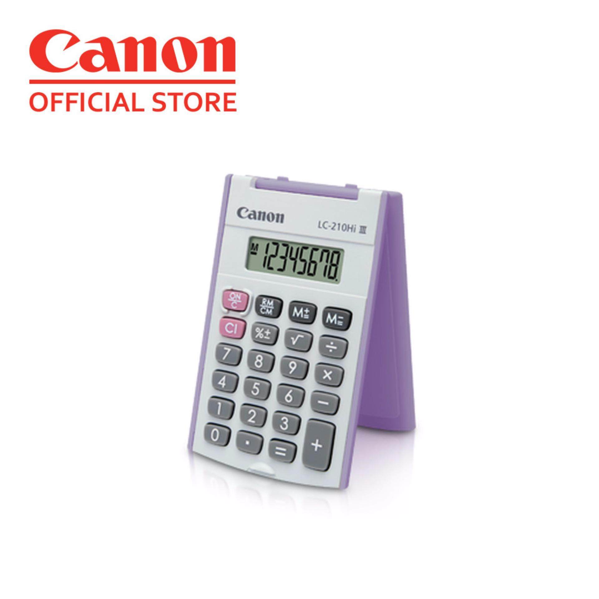 Canon LC-210Hi III Handheld 8 Digits Calculator - Purple Malaysia