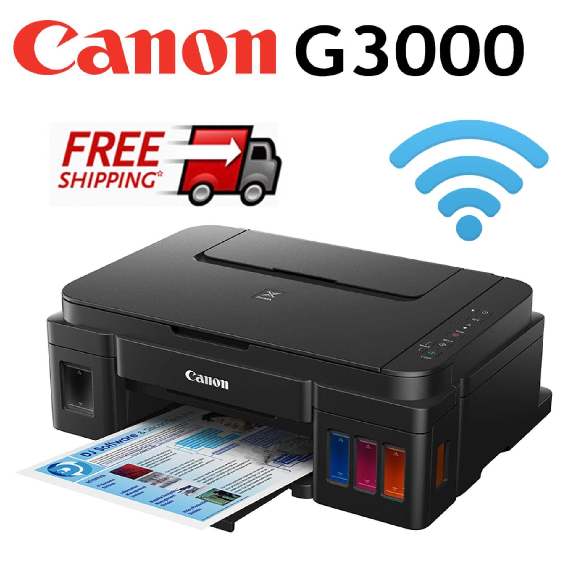 Canon Pixma G3000 Refillable Ink Tank Wireless All In One Printer With Hybrid Similar To Epson L385 Malaysia E510 Multifunction Inkjet