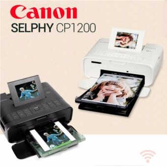 Wireless Compact Photo Printer SELPHY CP1200 white / Canon Mini Printer / Selphy Photo Printer