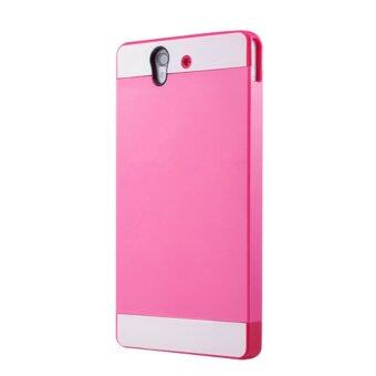 Case for Sony Xperia Z L36h Full Body Protection Hybrid Case - Rosy