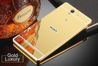 Case for Sony Xperia Z L36h-Luxury Metal Bumper Frame and Mirror PCBack Case ,