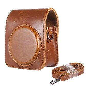 Classic Vintage Compact PU Leather Case Bag for Fujifilm InstaxMini 70 Instant Film Camera with Shoulder Strap