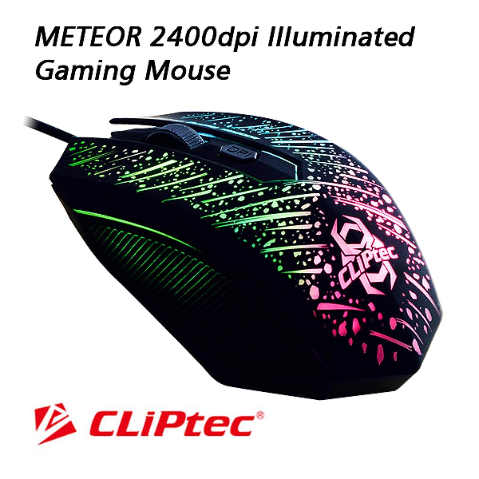 Cliptec 2400dpi Illuminated Gaming Mouse Rgs502 Malaysia Hp M100