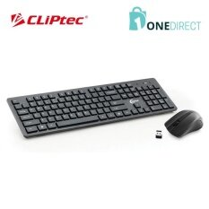 CLiPtec Wireless Multimedia Keyboard and Mouse Combo Set-RZK338 (Black) Malaysia