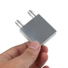 Computer Components Liquid Cooling Block 40x40 x12mm Aluminium for CPU GPU Silver Mini Water Cooling Heatsink Malaysia