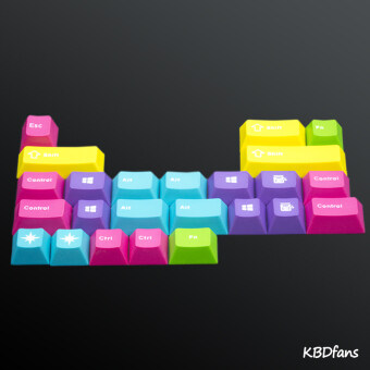 Cool system of mechanical keyboard keycaps