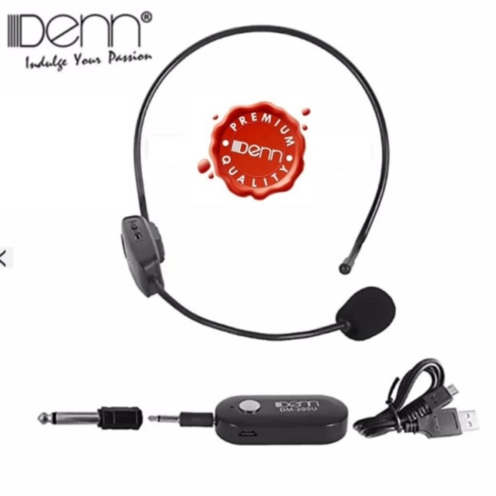 Denn DM-200U Mono Channel UHF Wireless Microphone Malaysia