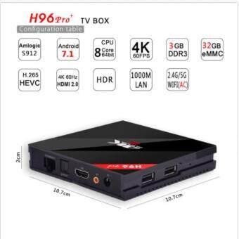 DTD H96 Pro+ Android TV Box 3GB Ram 32G Amlogic S912 Octa Core 4kSet Top Box Andriod 7.1 Dual Wifi Kodi Smart Tv Box - 4