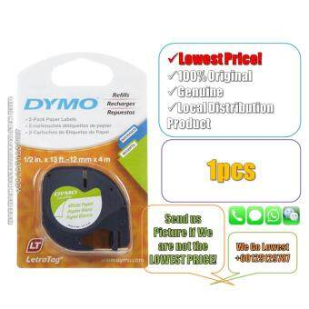 Dymo Letratag Label Maker Tape Refill Paper White 12mm X