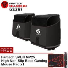 Fantech HellScream GS201 Gaming and Music Mobile Speakers with Bass Resonance Membrane for Computer PC or Laptop (Black) Malaysia