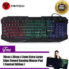 FANTECH  K10 Colorful Backlit Pro Gaming Keyboard for Desktop Laptop Malaysia