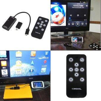 Harga For MHL Micro USB to HDMI HDTV Adapter+Remote Control For Androidphone S3 S4 S5