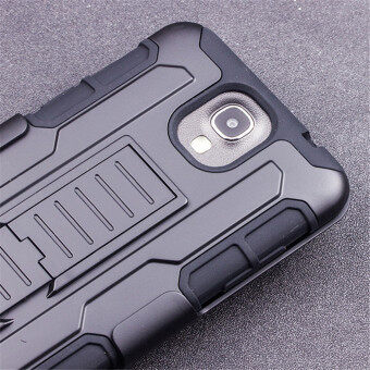 ... for samsung galaxy mega 2 g750a Belt Clip Case Holster Premiumblack Shockproof Stand