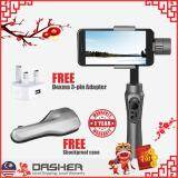 [FREE GIFT] Zhiyun Smooth Q 3-Axis Gimbal Electric Gyro Stabilizer for Mobile Smart Phone iOS Android (Jet Black) [3-pin] [Latest 2018]