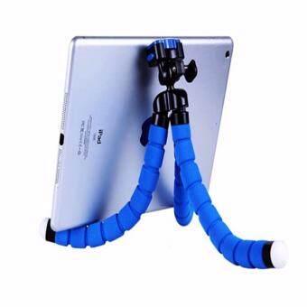 [FREE PHONE HOLDER] New Portable Phone Tripod Camera Holder TripodFlexible Octopus Tripod Bracket Stand Mount Monopod For Phone &Camera (Blue) - 5