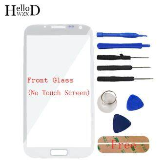 Harga Front Outer Glass Screen Lens (No Touch) For Samsung Galaxy Note 2N7100 + Free Tools + Adhesive (White)