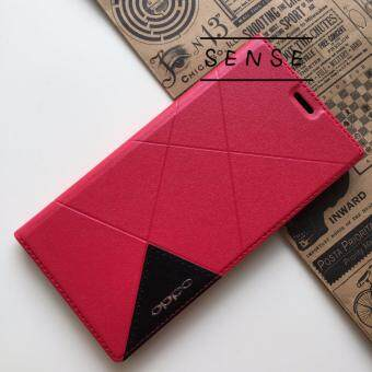 Harga Full Cover PU Leather Flip Case for Oppo F1S (Red)