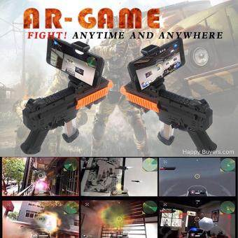 Harga F.UTURE DZ-822 AR Game Gun with Cell Phone Stand Holder PortablePlastic AR Toy Game Gun with 3D AR Games for iPhone Android SmartPhone