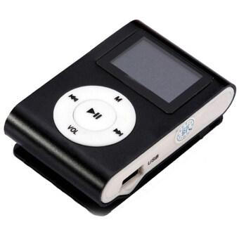 GETEK 32GB Micro SD TF Card FM Radio USB Mini Clip MP3 Player LCDScreen (Black)