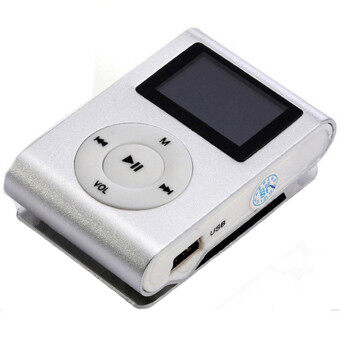 GETEK 32GB Micro SD TF Card FM Radio USB Mini Clip MP3 Player LCDScreen (White)