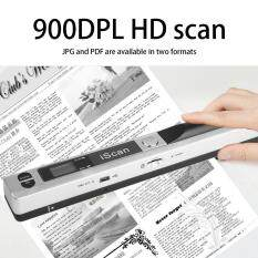 Gift Portable Handheld Mobile Document Scanner Pen Style 900DPI USB 2.0 LCD Display silver