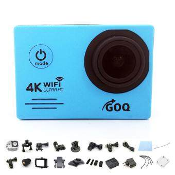 GOQ SJ7000 4K 30fps 16M Wifi Action Camera Waterproof Sports Cam (Blue)