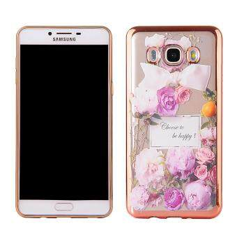 Hicase Ultra-Thin Soft Gel TPU Silicone Case For Samsung GalaxyGrand Prime Plus / J2 Prime Purple roses
