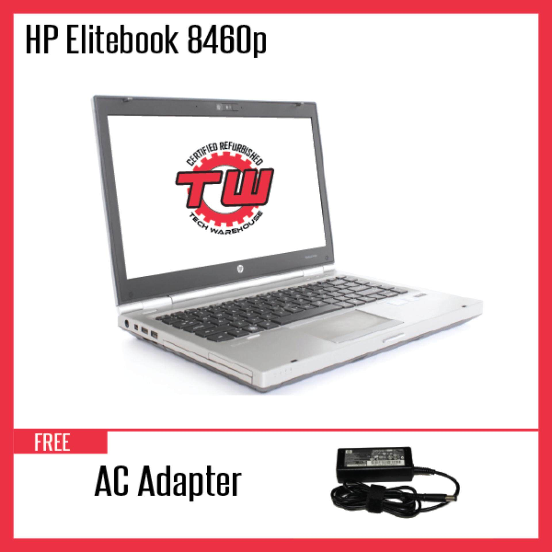 HP EliteBook 8460P (Factory Refurbished) Laptop + Extended Warranty - 6 Months Malaysia