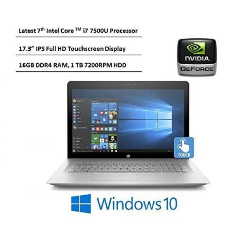 HP Envy 17.3-Inch Full HD IPS Touchscreen Laptop, 7th Intel Core i7-7500U, 16GB DDR4 RAM, 1TB 7200RPM HDD, NVIDIA GeForce 940MX, DVD, HDMI, Bluetooth, Backlit Keyboard, Windows 10-Silver Malaysia