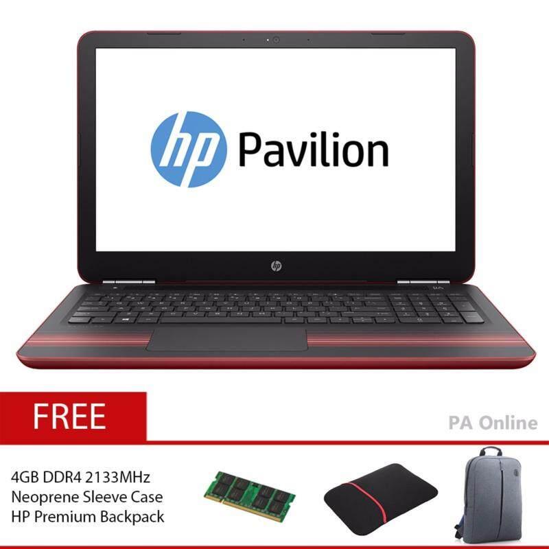 HP Pavilion 15-au137TX Red/Intel Core i7-7500U/8GB DDR4/128GB+1TB/15.6FHD/NVD 940MX 4GB//2 years/Windows 10 Malaysia