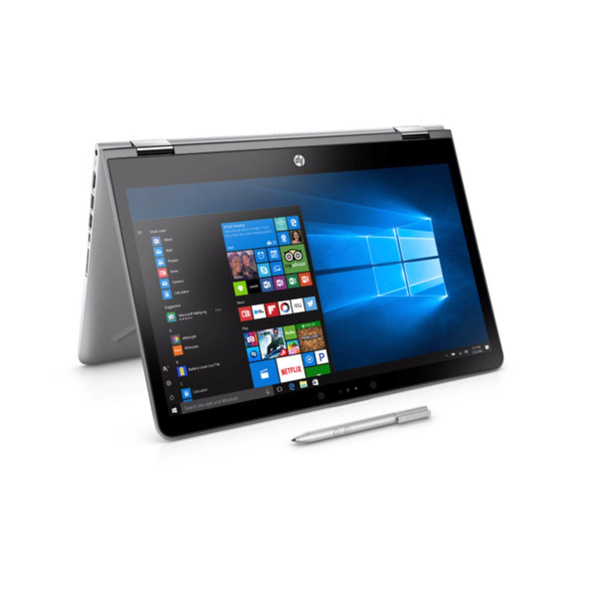 HP Pavilion x360 14-inch Notebook (Silver; Intel® Core™ i3) with Pen HP-14BA063TX Malaysia