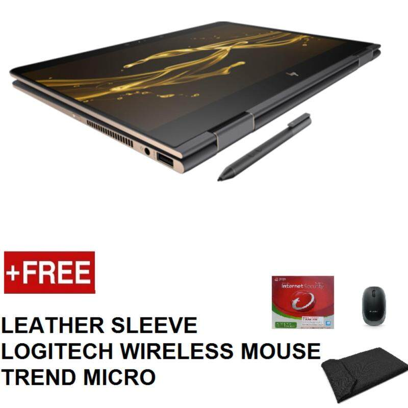 HP SPECTRE X360 13-ae089TU (i5-8250u,8GB,256GB,FHD TOUCH,13.3,WIN 10.PEN) WITH LEATHER SLEEVE + LOGITECH WIRELESS MOUSE + TREND MICRO INTERNET SECURITY Malaysia