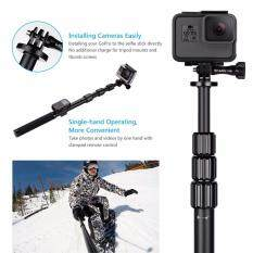 Monopod Pole With Phone Clip Holder Metal Tripod Wifi Remote 1 4 Adapter Mount