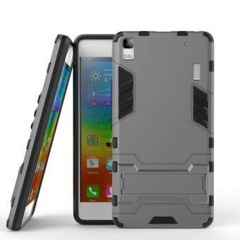 Harga Hybrid Armor Hard Back Case Cover with kickstand for Lenovo K3 Note/ Lenovo A7000 Turbo 2016 / Lenovo A7000 / A7000 Plus 5.5 Inch