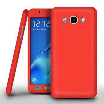 Harga I Tech 360 Degree Full Body Protection Cover Case With Tempered Glass for Samsung Galaxy J2 Prime (Red)