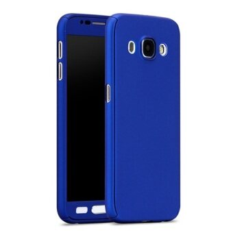 I Tech 360 Degree Full Body Protection Cover Case With Tempered Glass for Samsung Galaxy J7 2016 (Blue)