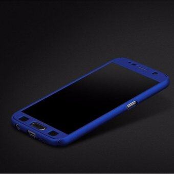 I Tech 360 Degree Full Body Protection Cover Case With Tempered Glass for Samsung Galaxy Note 3 (Blue)