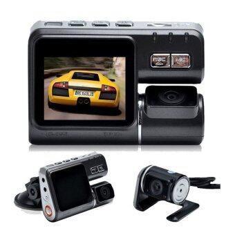 i1000 Dual Camera DVR Allwinner Full HD 1080P Dual Lens Dash CamVideo Recorder 2 Camera Night Vision Car DVR Camcorder (Black)