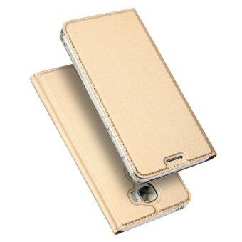 Harga DUX DUCIS Skin Pro Series for LeEco Le Pro3 Business Leather Card Slot Mobile Casing - Gold