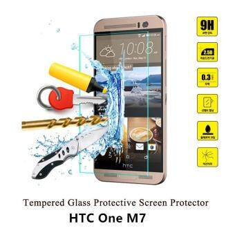 Harga 0.3mm 9H 2.5D Clear Premium Tempered Glass Screen Protector Film for HTC One M7 with Clean Tools