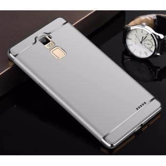 Harga Hybrid 3 In 1 Hard PC Frosted Matte Back Cover Case With Electroplated Frame For OPPO R7 Plus(Silver)